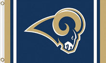 Load image into Gallery viewer, Los Angeles Rams Logo Stripe Flag 3ftx5ft