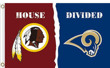 Load image into Gallery viewer, Washington Redskins vs Los Angeles Rams Divided Flag