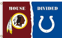 Load image into Gallery viewer, Washington Redskins vs Indianapolis Colts Divided Flag