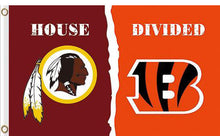 Load image into Gallery viewer, Washington Redskins vs Cincinnati Bengals Divided Flag