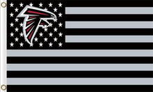 Load image into Gallery viewer, Atlanta Falcons Flag with Star and Stripes 3FTx5FT Black