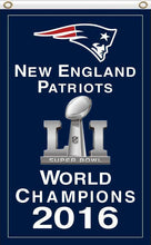 Load image into Gallery viewer, New England Patriots Super Bowl Champion 2016 3FTx5FT