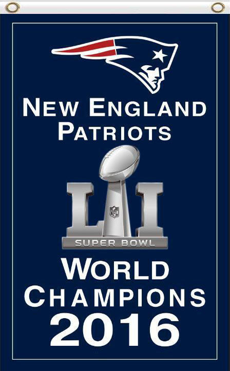 New England Patriots Super Bowl Champion 2016 3FTx5FT