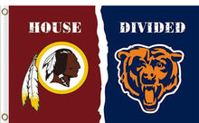 Load image into Gallery viewer, Washington Redskins vs Chicago Bears Divided Flag