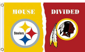 Pittsburgh Steelers vs Washington Redskins Divided Flag