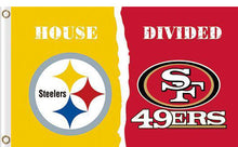 Load image into Gallery viewer, Pittsburgh Steelers vs San Francisco 49ers Divided Flag