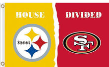 Load image into Gallery viewer, Pittsburgh Steelers vs San Francisco 49ers 2 Divided Flag