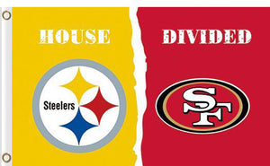 Pittsburgh Steelers vs San Francisco 49ers 2 Divided Flag