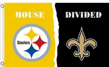 Load image into Gallery viewer, Pittsburgh Steelers vs New Orleans Saints Divided Flag