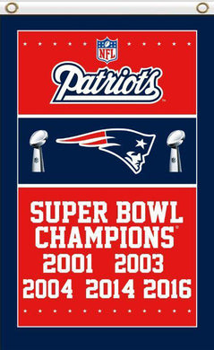 New England Patriots Super Bowl Champion 2017 3FTx5FT