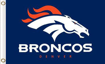 Denver Broncos Logo Stripe 3ftx5ft Flag