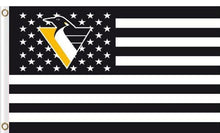 Load image into Gallery viewer, Pittsburgh Penguins USA flags with star and stripe 3x5 ft