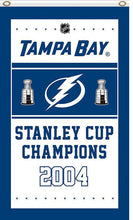 Load image into Gallery viewer, Tampa Bay Lightning 2004 champion 3x5ft Flag