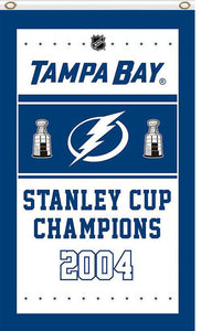 Tampa Bay Lightning 2004 champion 3x5ft Flag