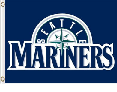 Seattle Mariners Polyester Banner flag 3ftx5ft