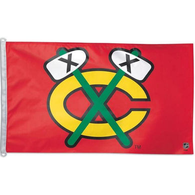 Chicago Blackhawks Tomahawk Flag 3x5 ft 100D