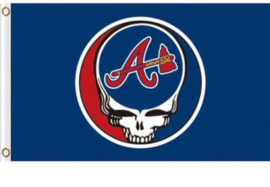 Atlanta Braves Dead Skull flags 3ftx5ft