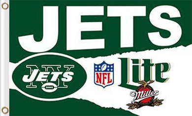 New York Jets Lite Flags 3ftx5ft