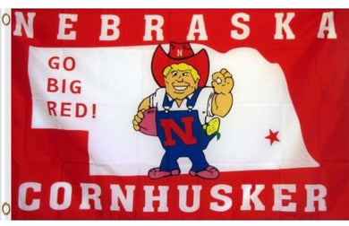 Nebraska Cornhuskers USA- Big Red Flag 3x5ft