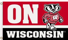 Load image into Gallery viewer, Wisconsin Badgers ON WISCONSIN flag 3x5FT