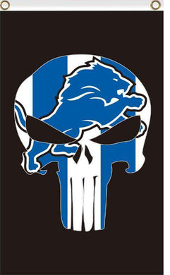Detroit Lions football flag bright color 3x5FT