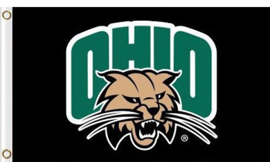 Ohio Bobcats Banner Black 3x5FT Flag