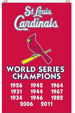 St. Louis Cardinals World Series Champions Banner flag 3ftx5ft