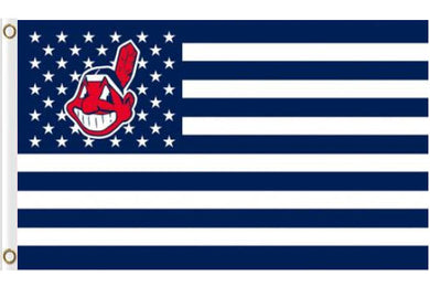 Cleveland Indians USA American flags 3ftx5ft