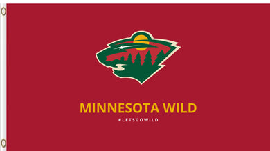 Minnesota Wild flag Polyester 3x5 ft 100D