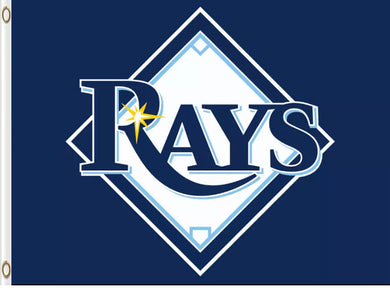 Tampa Bay Rays Blue Banner Flag 3x5ft
