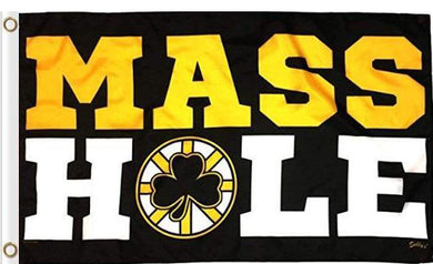 Mass Hole Black and Gold Flag 3x5 ft