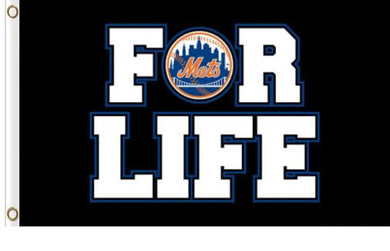 New York Mets For Life Flag 3x 5FT Flag