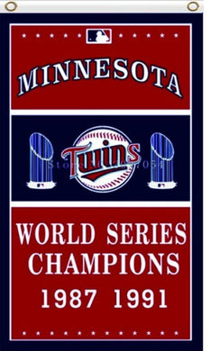 Minnesota Twins Series Champion Banner flag 3ftx5ft