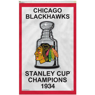 Chicago Blackhawks 1934 Stanley Cup Flag 3x5 ft
