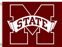 Load image into Gallery viewer, Mississippi State Bulldogs Logo Hand Flag 90*150 CM