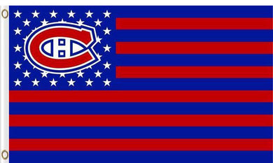 Montreal Canadiens star and stripe flags 3x5ft