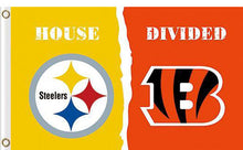 Load image into Gallery viewer, Pittsburgh Steelers vs Cincinnati Bengals Divided Flag