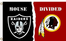 Load image into Gallery viewer, Oakland Raiders vs Washington Redskins Divided Flag