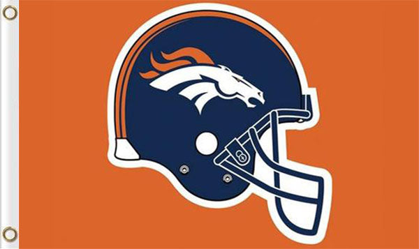 Denver Broncos Football Logo Banners Flags 3ftx5ft