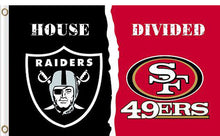 Load image into Gallery viewer, Oakland Raiders vs San Francisco 49ers Divided Flag