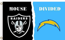 Load image into Gallery viewer, Oakland Raiders vs San Diego Chargers Divided Flag