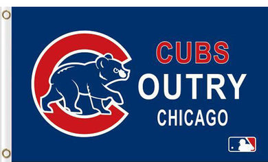 Cubs Outry Chicago Flag 3ft x 5ft