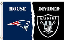 Load image into Gallery viewer, New England Patriots vs Oakland Raiders Divided Flag