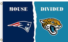 Load image into Gallery viewer, New England Patriots vs Jacksonville Jaguars Divided Flag