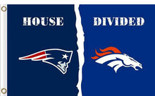 Load image into Gallery viewer, New England Patriots vs Denver Broncos Divided Flag