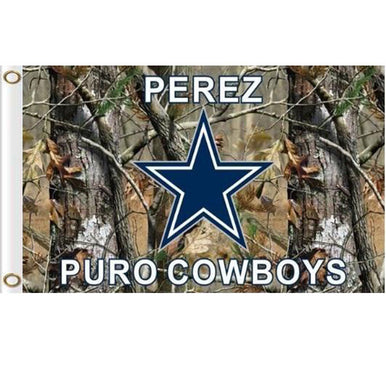 Dallas Cowboys camo flags 90x150cm