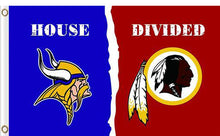 Load image into Gallery viewer, Minnesota Vikings vs Washington Redskins Divided Flag