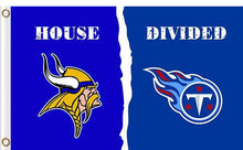 Load image into Gallery viewer, Minnesota Vikings vs Tennessee Titans Divided Flag