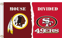 Load image into Gallery viewer, Washington Redskins vs San Francisco 49ers Divided Flag