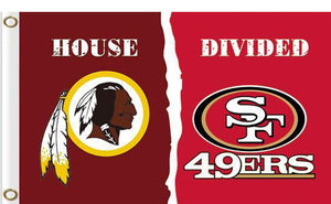 Washington Redskins vs San Francisco 49ers Divided Flag